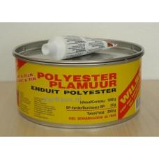 Wilsor Polyester Plamuur Wit & Fijn 2000 gram